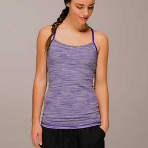 Lululemon purple striped power y tank